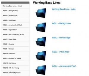 working-basslines