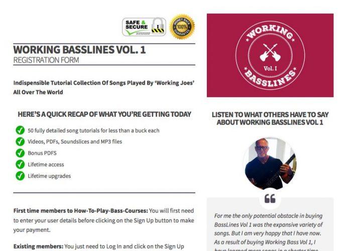 working basslines vol 1 registration page